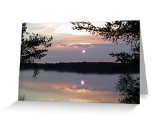 Smoky Reflections Greeting Card