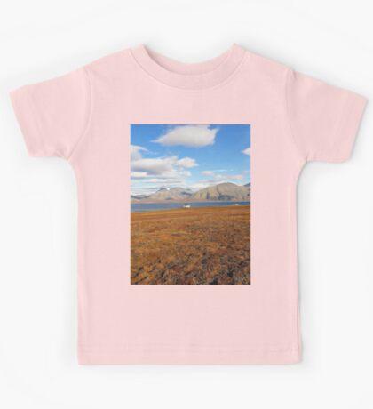 a colourful Kazakhstan landscape Kids Tee