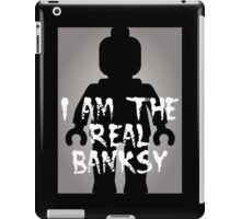 "Black Minifig with ""I am the Real Banksy"" iPad Case/Skin"