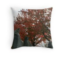 Rock People Under The Fall Throw Pillow