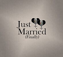 Just Married (Finally) Tuxedo Hearts Tie by LiveLoudGraphic