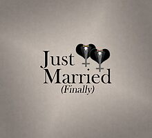 Just Married (Finally) Tuxedo Hearts Bow Tie by LiveLoudGraphic