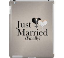 Just Married (Finally) Dress and Tux Hearts Bow Tie iPad Case/Skin