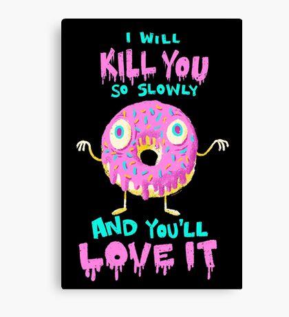 Killer Donut Canvas Print