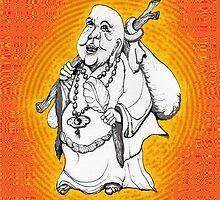 Buddha On His Way  by James Lewis Hamilton