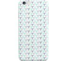 Aqua, Mint & Grey Triangles iPhone Case/Skin