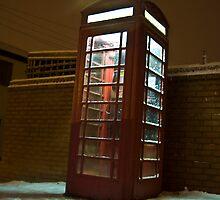 Snowy Phone Box by Adam Kennedy