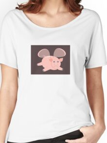 EVENING OF THE GLASSWINGED PIG Women's Relaxed Fit T-Shirt