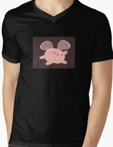EVENING OF THE GLASSWINGED PIG Mens V-Neck T-Shirt