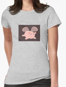 EVENING OF THE GLASSWINGED PIG Womens Fitted T-Shirt