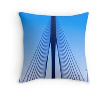 Symmetry in Indigo Throw Pillow