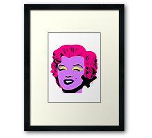 Purple Marilyn Monroe Framed Print