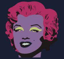 Purple Marilyn Monroe Kids Tee