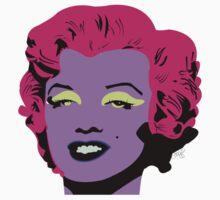 Purple Marilyn Monroe One Piece - Short Sleeve