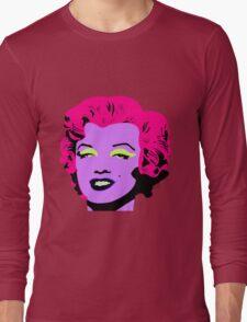 Purple Marilyn Monroe Long Sleeve T-Shirt
