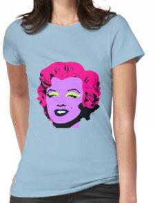 Purple Marilyn Monroe Womens Fitted T-Shirt