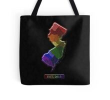 LGBT Equality New Jersey Rainbow Map - LGBT Equality Tote Bag