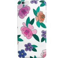 Peonies and Violets iPhone Case/Skin