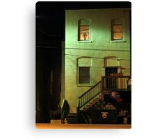 Night Alley And Building Canvas Print