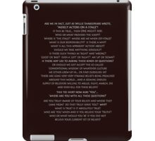 ACTORS ON THE STAGE? * iPad Case/Skin