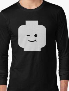Minifig Winking Head Long Sleeve T-Shirt