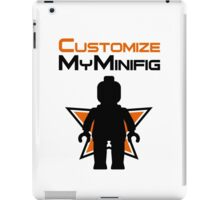 Black Minifig Standing, in front of Customize My Minifig Logo iPad Case/Skin