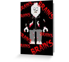 A LOT OF BRAINS - ZOMBIE MINIFIG Greeting Card