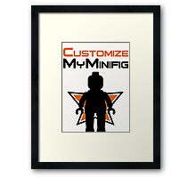 Black Minifig Standing, in front of Customize My Minifig Logo Framed Print
