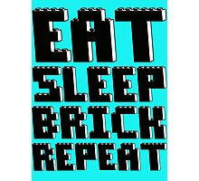 EAT, SLEEP, BRICK, REPEAT Photographic Print