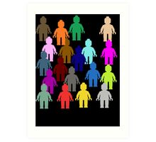 United Colors of Minifig [Large]  Art Print