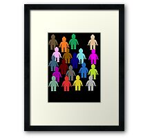 United Colors of Minifig [Large]  Framed Print