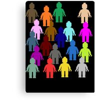 United Colors of Minifig [Large]  Canvas Print