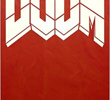 Doom Minimalist Movie Poster by William Sweetman
