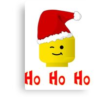 Santa Ho Ho Ho Minifig by Customize My Minifig Canvas Print