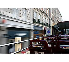 London Bus roofshot! Photographic Print