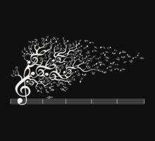 The Sound of Nature - White Baby Tee