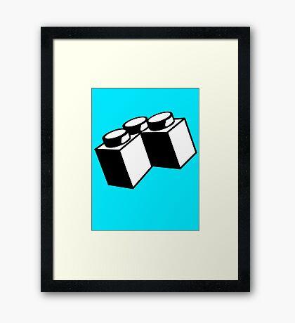 2 x 2 Brick Corner Framed Print
