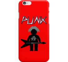 Punk Guitarist Minifig by Customize My Minifig iPhone Case/Skin