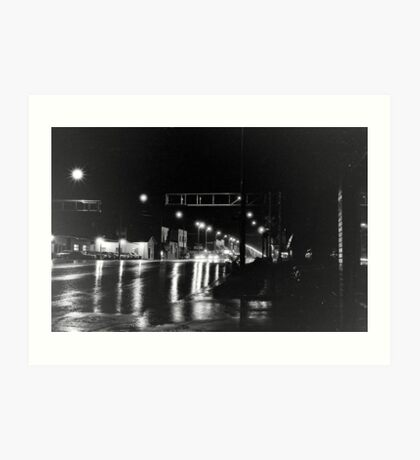 Rain on Broadway Art Print