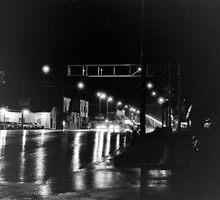 Rain on Broadway by coffeenoir