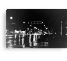 Rain on Broadway Canvas Print