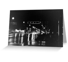 Rain on Broadway Greeting Card