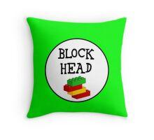 BLOCK HEAD Throw Pillow