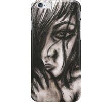 Charcoal portrait #3 iPhone Case/Skin