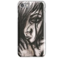 Charcoal portrait #3 iPhone Case/Skin