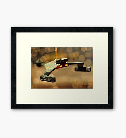 Klingon Battle Cruiser Framed Print