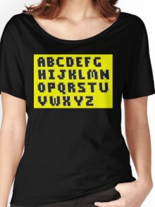 Brick Font Alphabet Women's Relaxed Fit T-Shirt