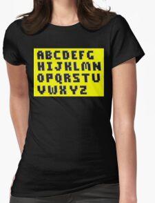 Brick Font Alphabet Womens Fitted T-Shirt