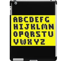 Brick Font Alphabet iPad Case/Skin