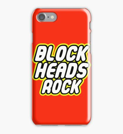 BLOCK HEADS ROCK iPhone Case/Skin
